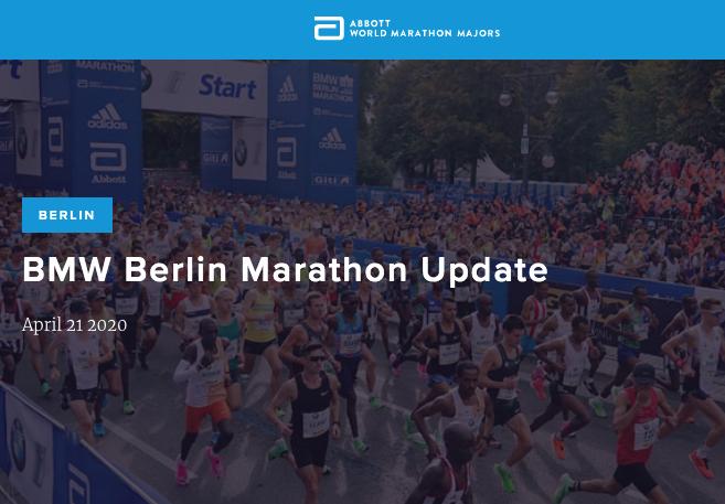 Cancelamento Maratona Berlim de 2020 em 21-04-2020