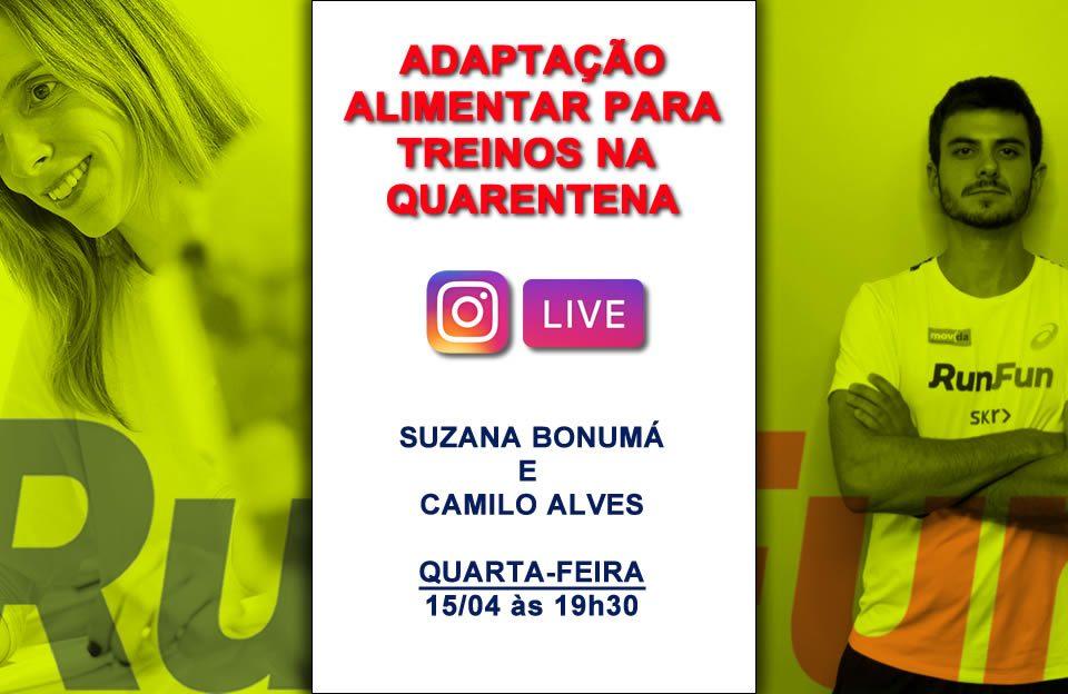 Live RunFun Nutrição Suzana e Camilo - 15/04/2020