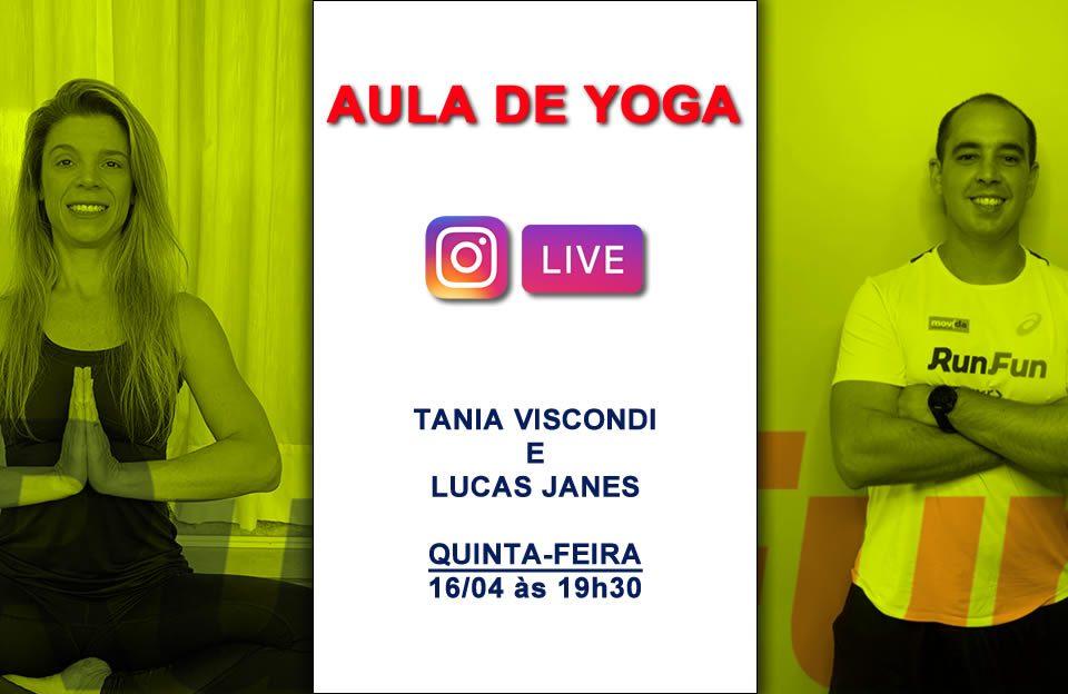 Live RunFun Yoga - Tania e Lucas 16/04/2020