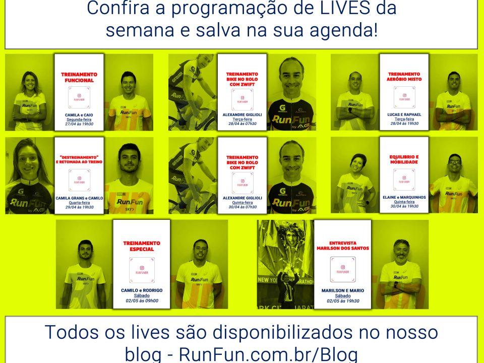 LIVES RunFun da semana de 27-04-2020