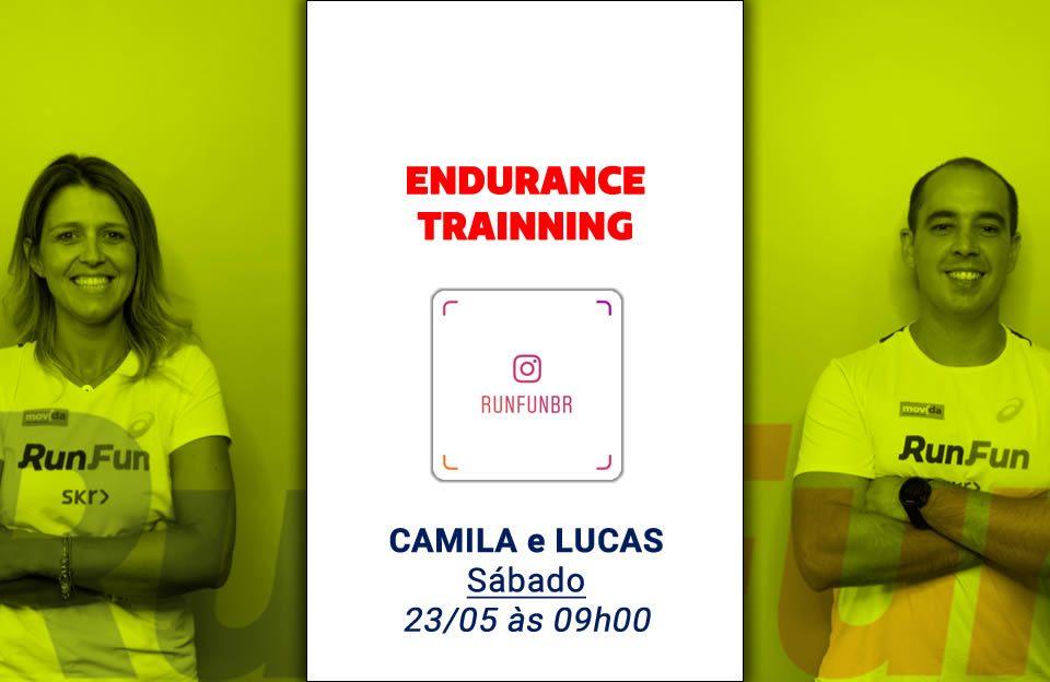 Live RunFun Endurance Trainning com Camila e Lucas 23-05