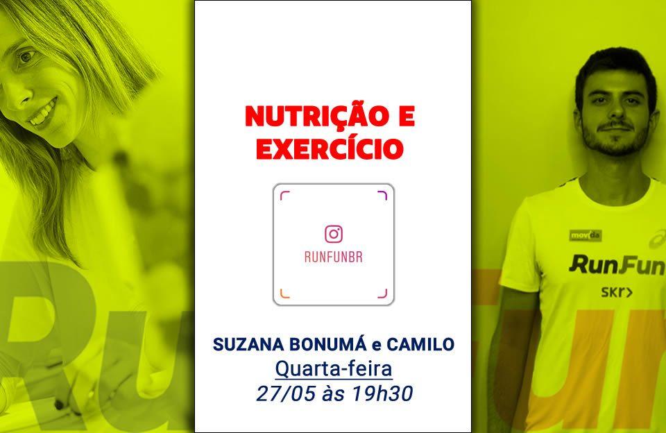 Live RunFun Nutrição Exercício Suzana Bonumá Camilo - 27-05