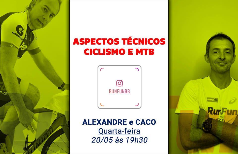 Live RunFun Aspectos Tecnica Bike Indoor e MTB Alexandre e Caco 20-05