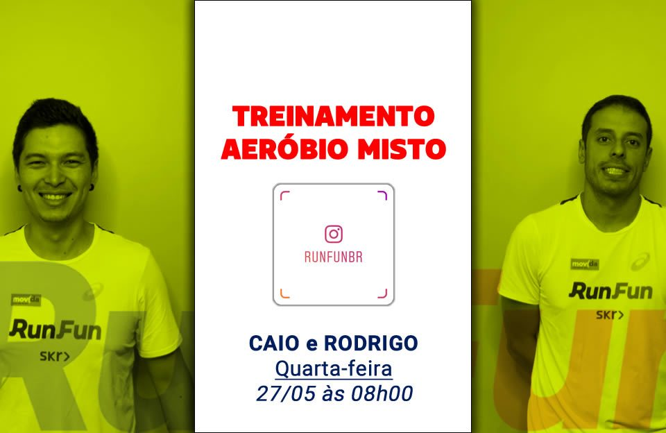 Live RunFun Treinamento Aeróbio Misto Caio Rodrigo - 27-05