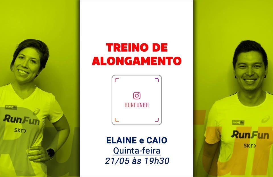 Live RunFun Treino Alongamento Elaine - Caio 21-05