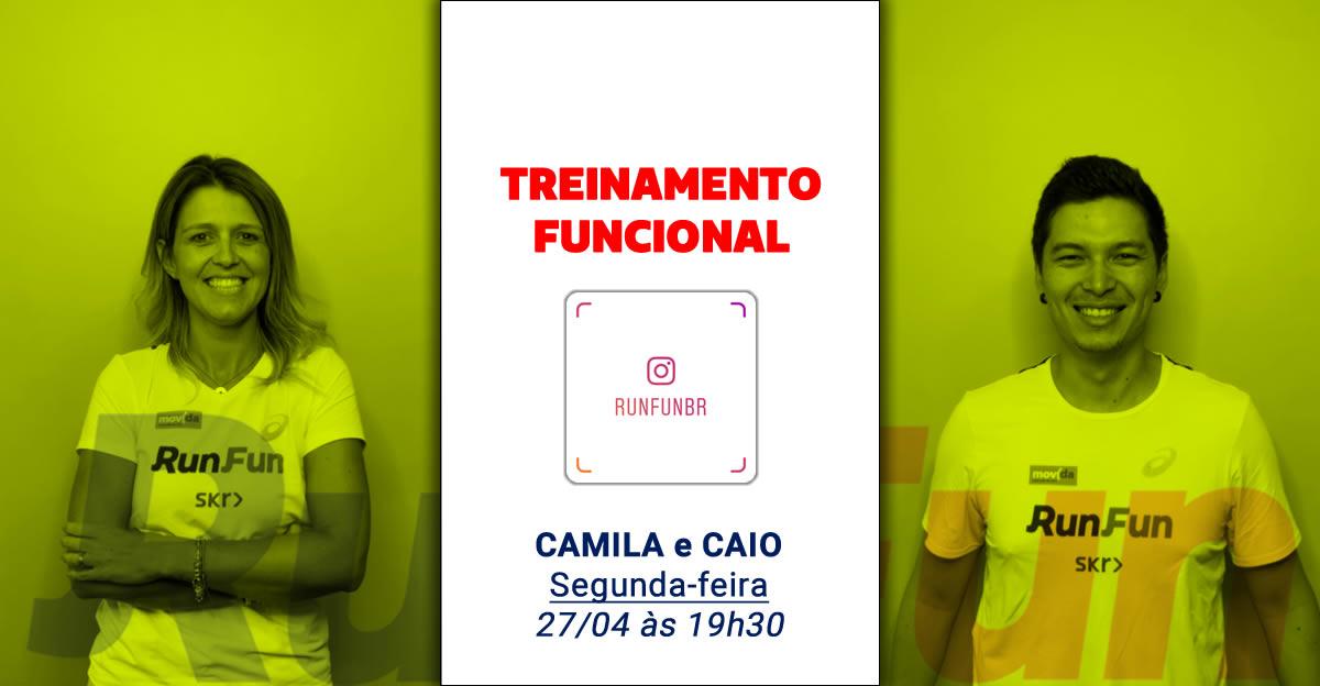Lives RunFun Treinamento Funcional Camila e Caio 27-04