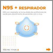 Máscara N95 com Respirador
