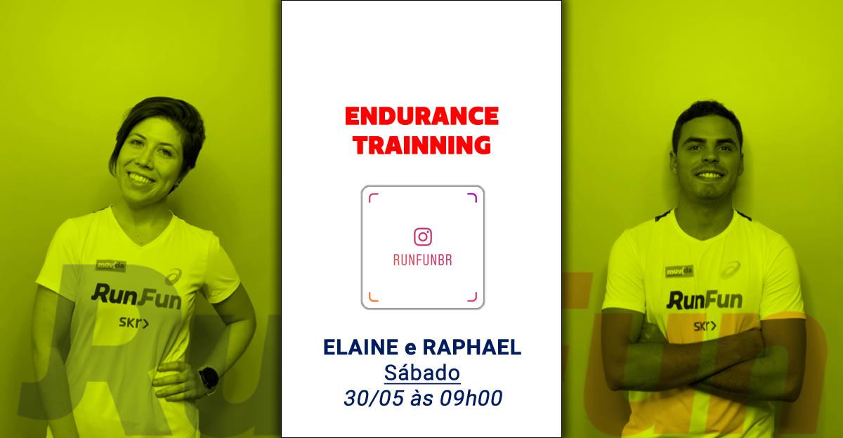 Live RunFun Endurance Trainning Elaine e Raphael - 30-05