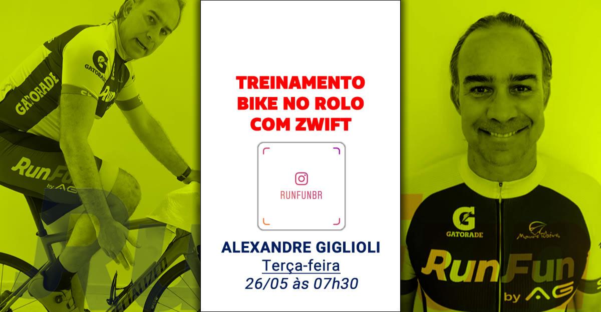 Live RunFun Treinamento Bike Indoor Alexandre Giglioli 26-05