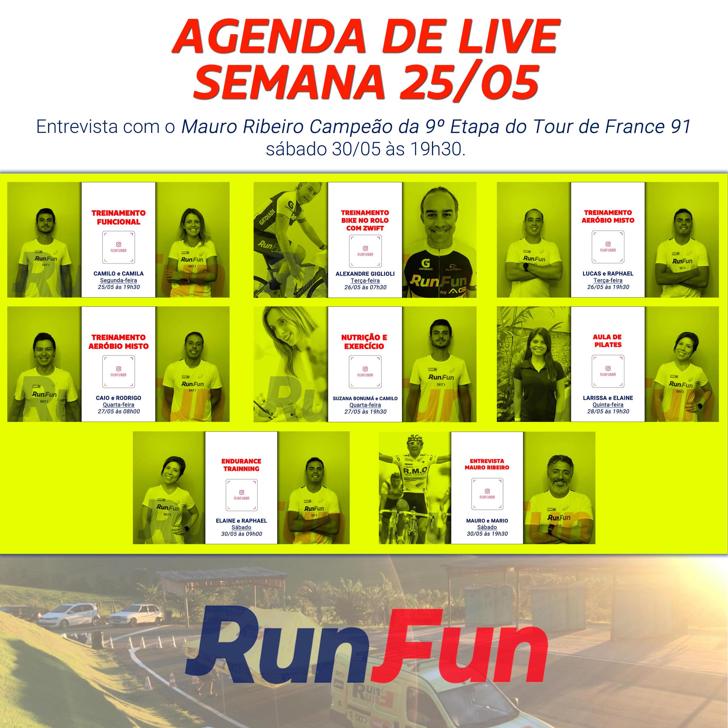 LIVES - Programação da Semana 25-05-2020